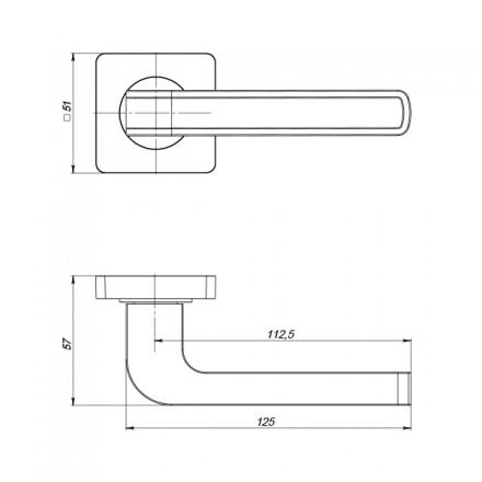 Ручка раздельная FUTURA ZQ GR/BN-23 графит/черный никель