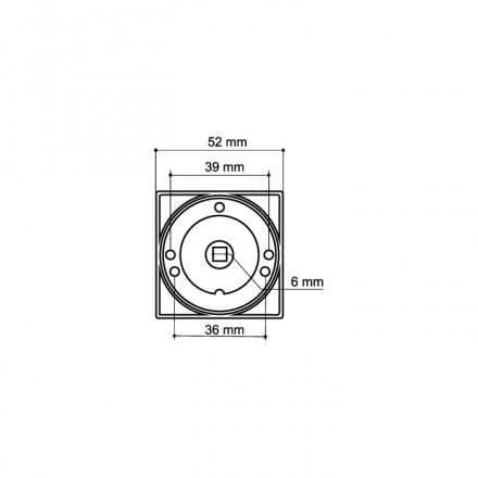 Ручка поворотная WC-BOLT BK6/SQ-21SN/CP-3 матовый никель/хром