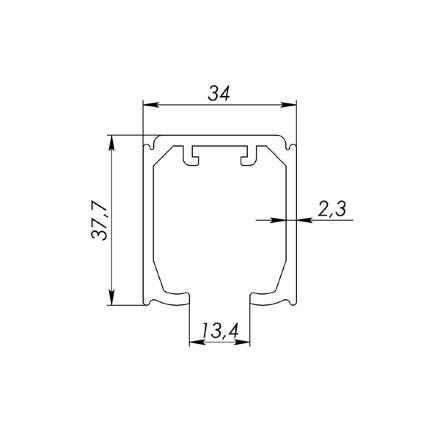 Верхняя направляющая Armadillo (Армадилло) Comfort-PRO 80/2,3/2000 track (2 м)