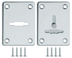 Декоративная накладка Fuaro (Фуаро) ESC081/082-CP-8 (ХРОМ) на сув. замок сталь (1пара)
