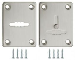 Декоративная накладка Fuaro (Фуаро) ESC081/082-SN-3 (МАТ НИКЕЛЬ) на сув. замок сталь (1пара)