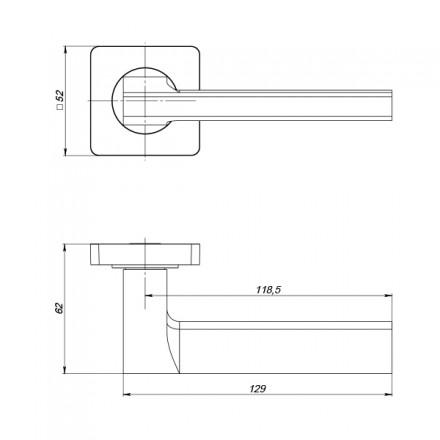 Ручка раздельная PUNTO ROTO ZQ SN/CP-3 матовый никель/хром