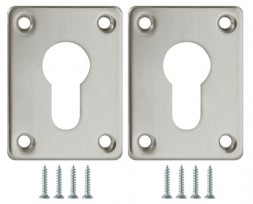 Декоративная накладка Fuaro (Фуаро) ESC083-SN-3 (МАТ НИКЕЛЬ) на цилиндр сталь (2 шт.)