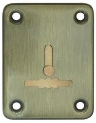 Декоративная накладка Fuaro (Фуаро) ESC081-AB-7 (БРОНЗА) на сув. замок с шторкой (1шт) (латунь)