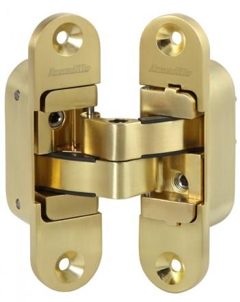 Петля скрытой установки с 3D-регулировкой Architect 3D-ACH 60 SG Матовое золото прав. 60 кг